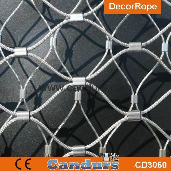 不鏽鋼絲繩老虎圍欄網 6