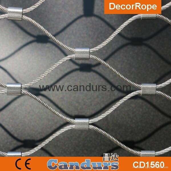 1.5毫米不鏽鋼絲繩扣網護欄 3