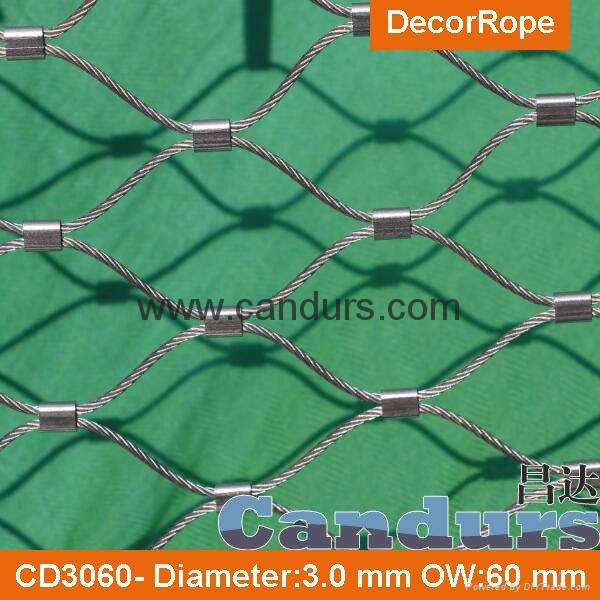 Diamond Ferruled Stainless Steel Wire Rope Cable Balustrade Railing Infill Mesh 4