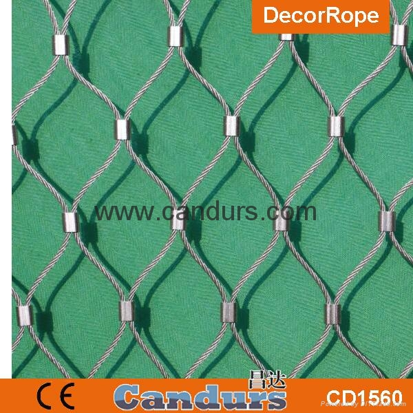 Diamond Ferruled Stainless Steel Wire Rope Cable Balustrade Railing Infill Mesh 5