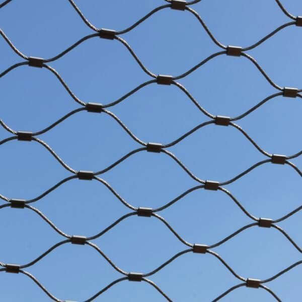 不鏽鋼絲繩安全圍欄網 4