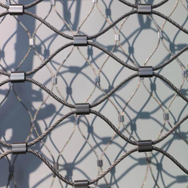 不鏽鋼絲繩安全圍欄網 6