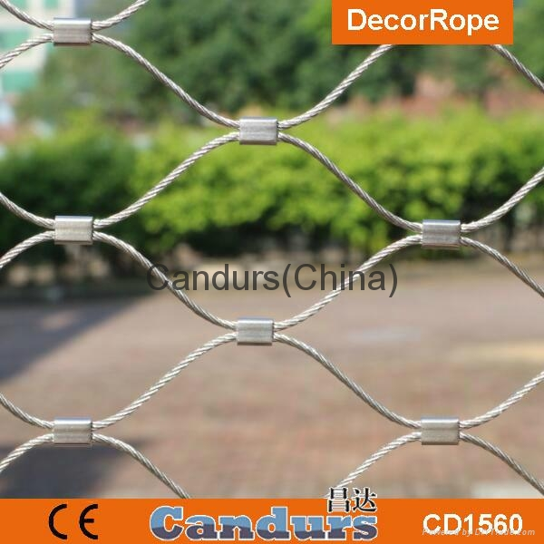 Stainless Steel Wire Rope Mesh Net ,Decorative Metal Fence Fabric ...