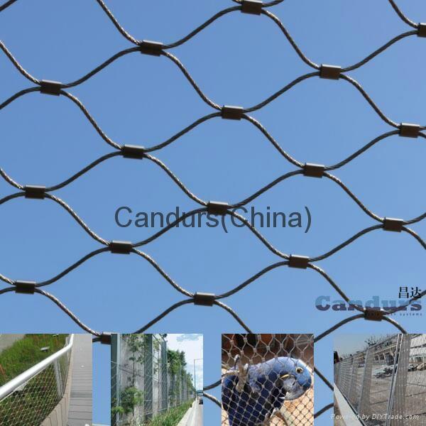 不鏽鋼樓梯邊緣防護網 7