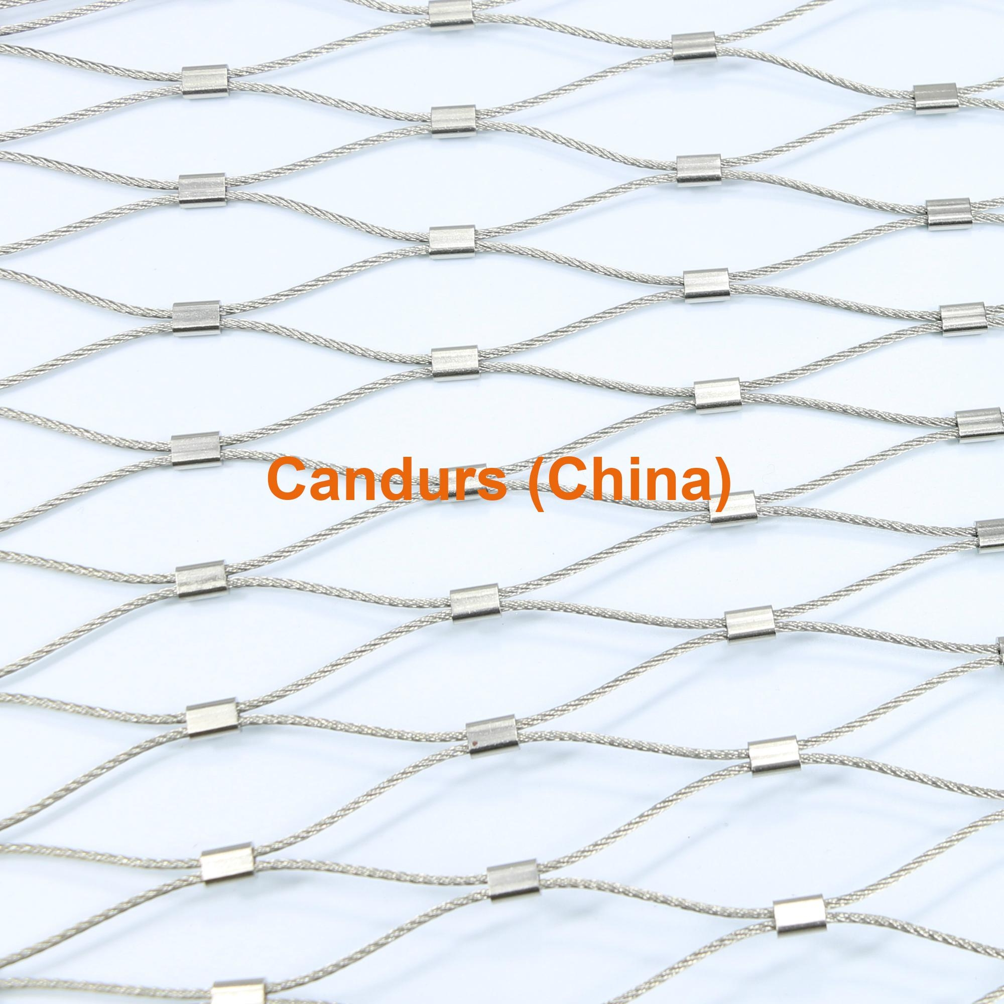 2.0mm 100 mm Mesh 316 Flexible Stainless Steel Wire Cable Mesh 3