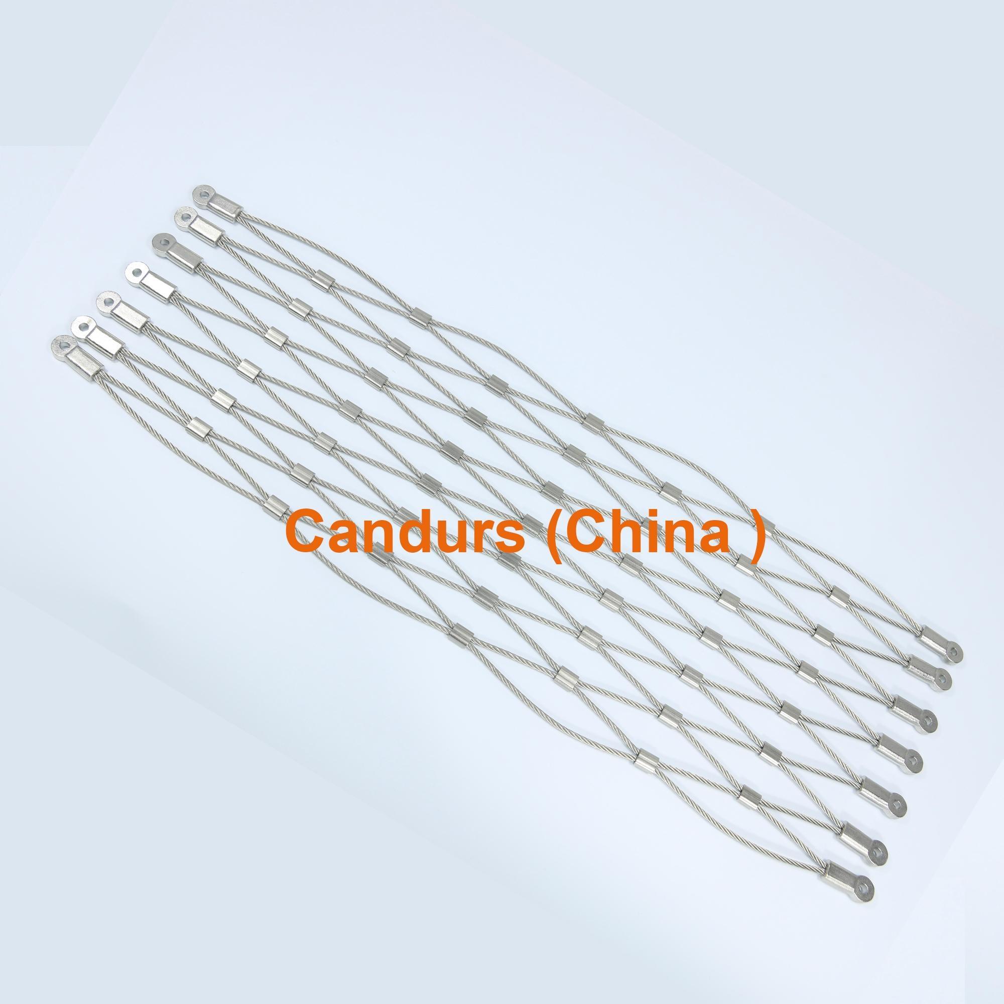 2.0mm 80mm x 140mm 316 不鏽鋼絲繩柔性網 5