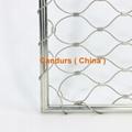 專業小孔徑鋼絲繩網 7