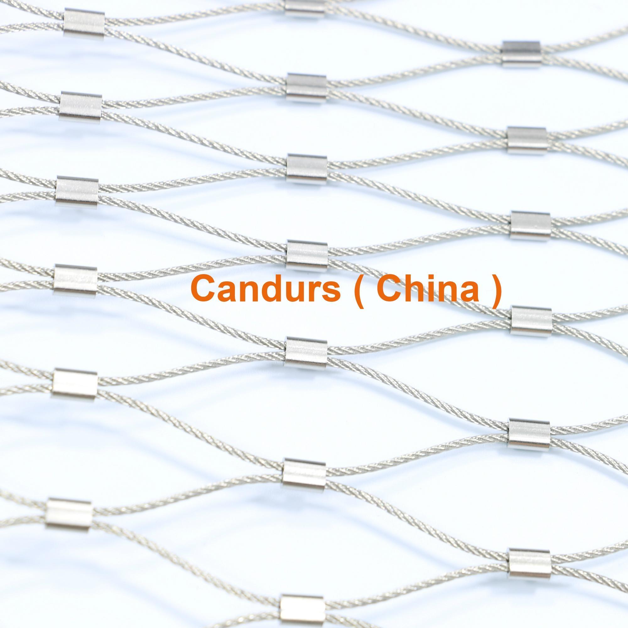 專業小孔徑鋼絲繩網 3
