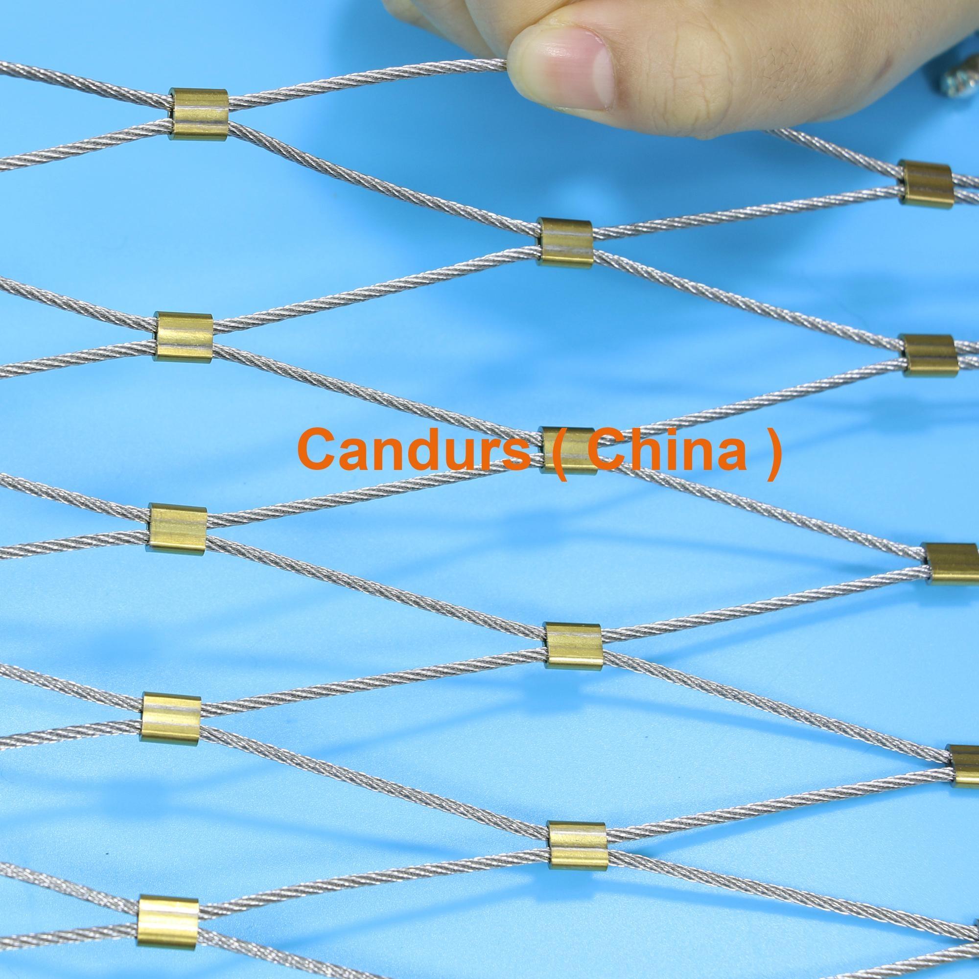 专业小孔径钢丝绳网 9