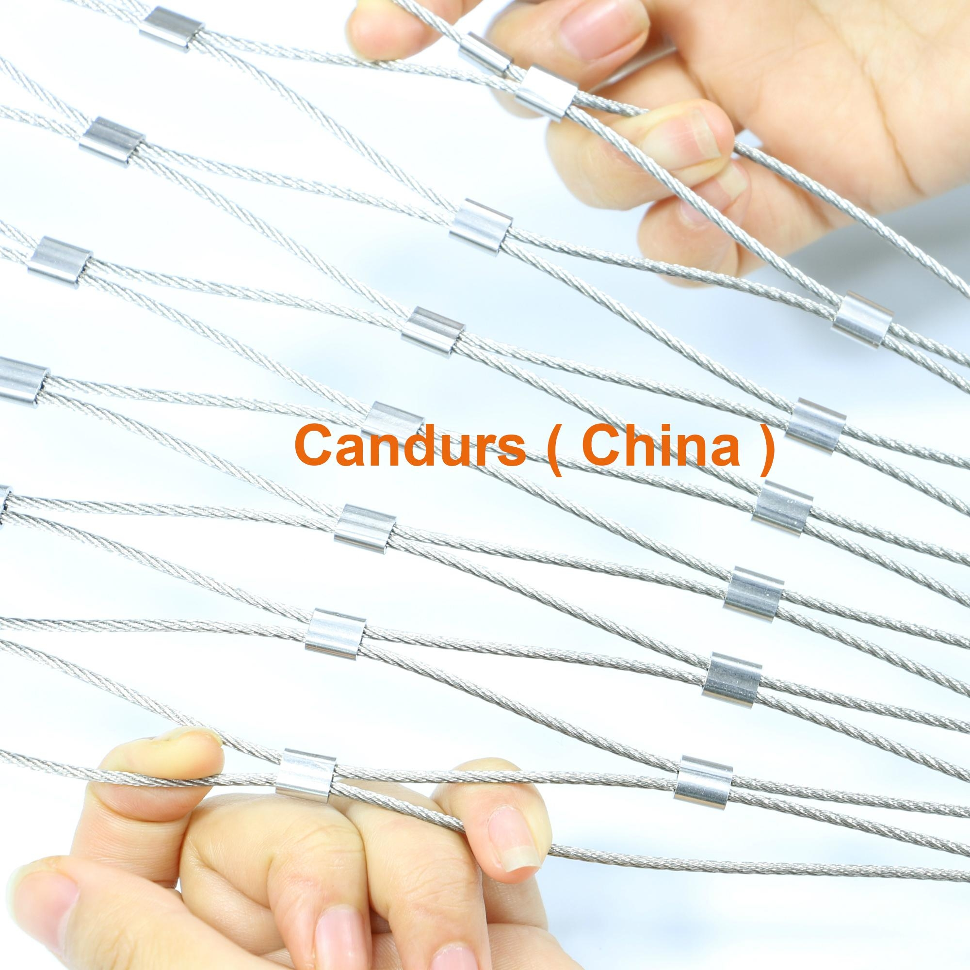 2.0mm 120 mm 316 柔性不锈钢丝绳网 1