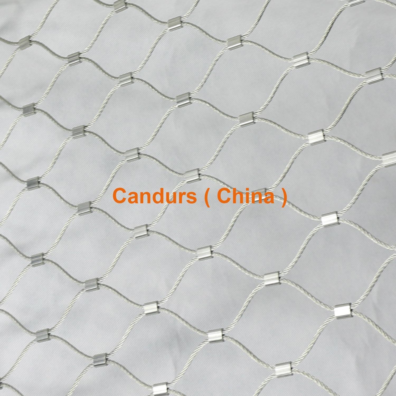柔性不锈钢扶手栏杆防护网 4