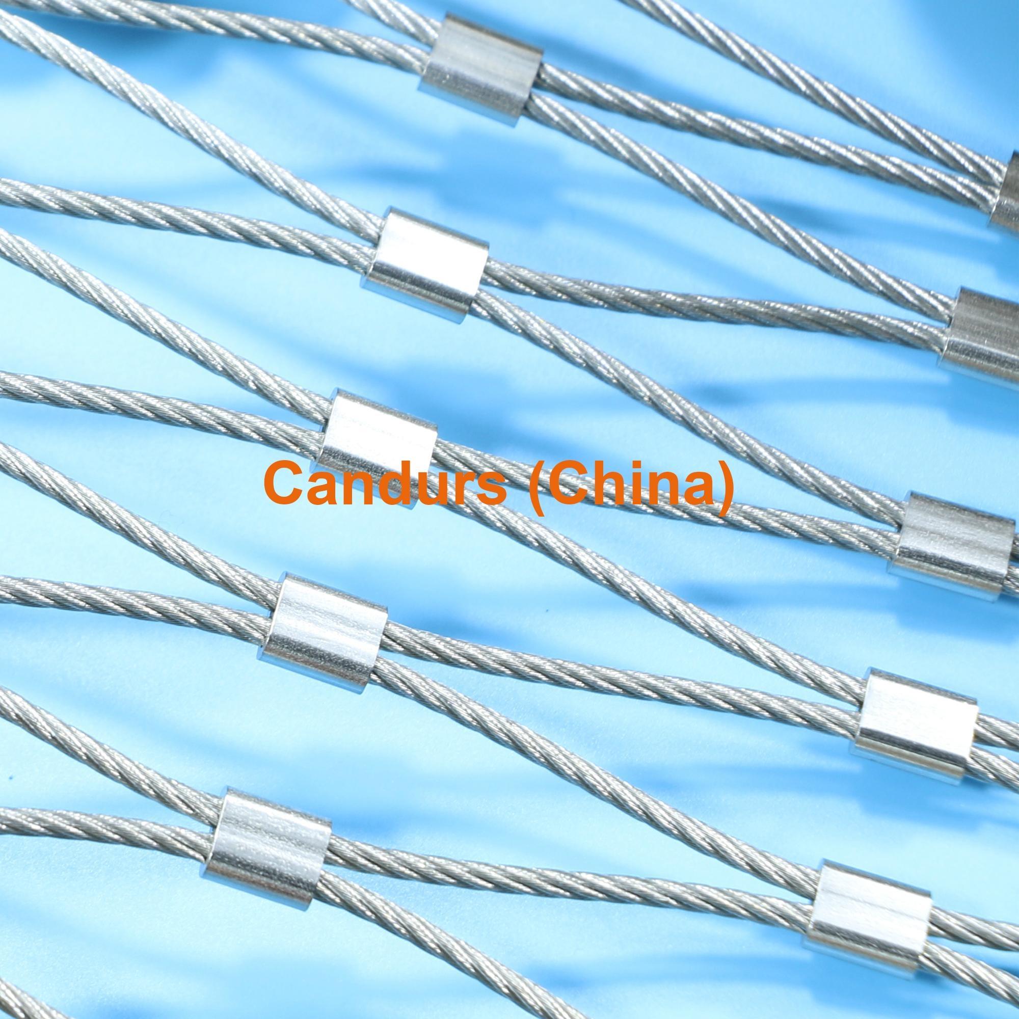 柔性不锈钢扶手栏杆防护网 10