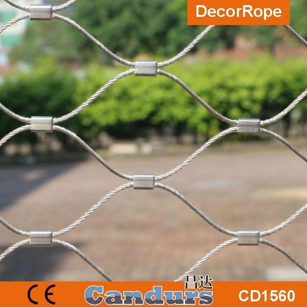 不鏽鋼絲繩森林隔離網 5