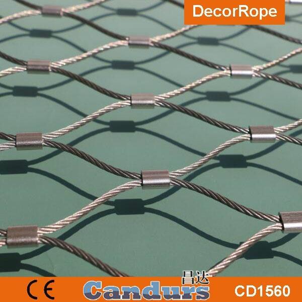 园林装饰钢丝绳网 3