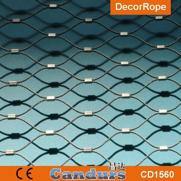 供應不鏽鋼壓扣鋼絲繩網 4