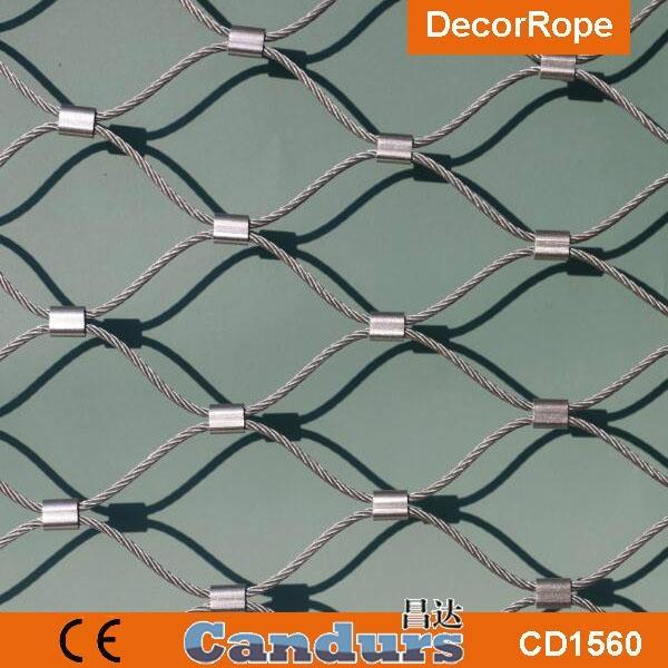 供應不鏽鋼壓扣鋼絲繩網 5