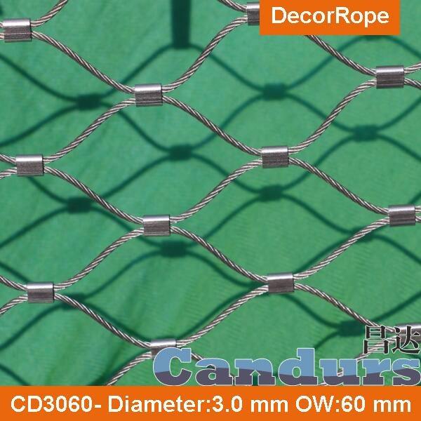 供應不鏽鋼壓扣鋼絲繩網 6