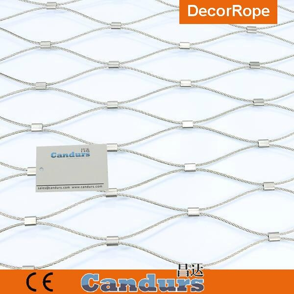 不锈钢丝绳菱形安全网 4