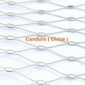 1 mm 80 mm x 140 mm Stainless Steel Clip Cable Netting