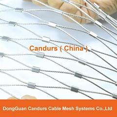 不鏽鋼絲繩卡扣網