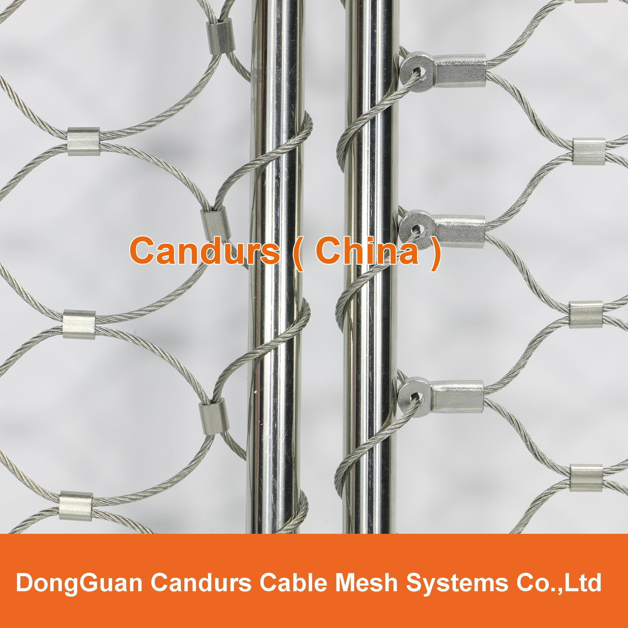 动物园专用不锈钢丝绳套环网   4