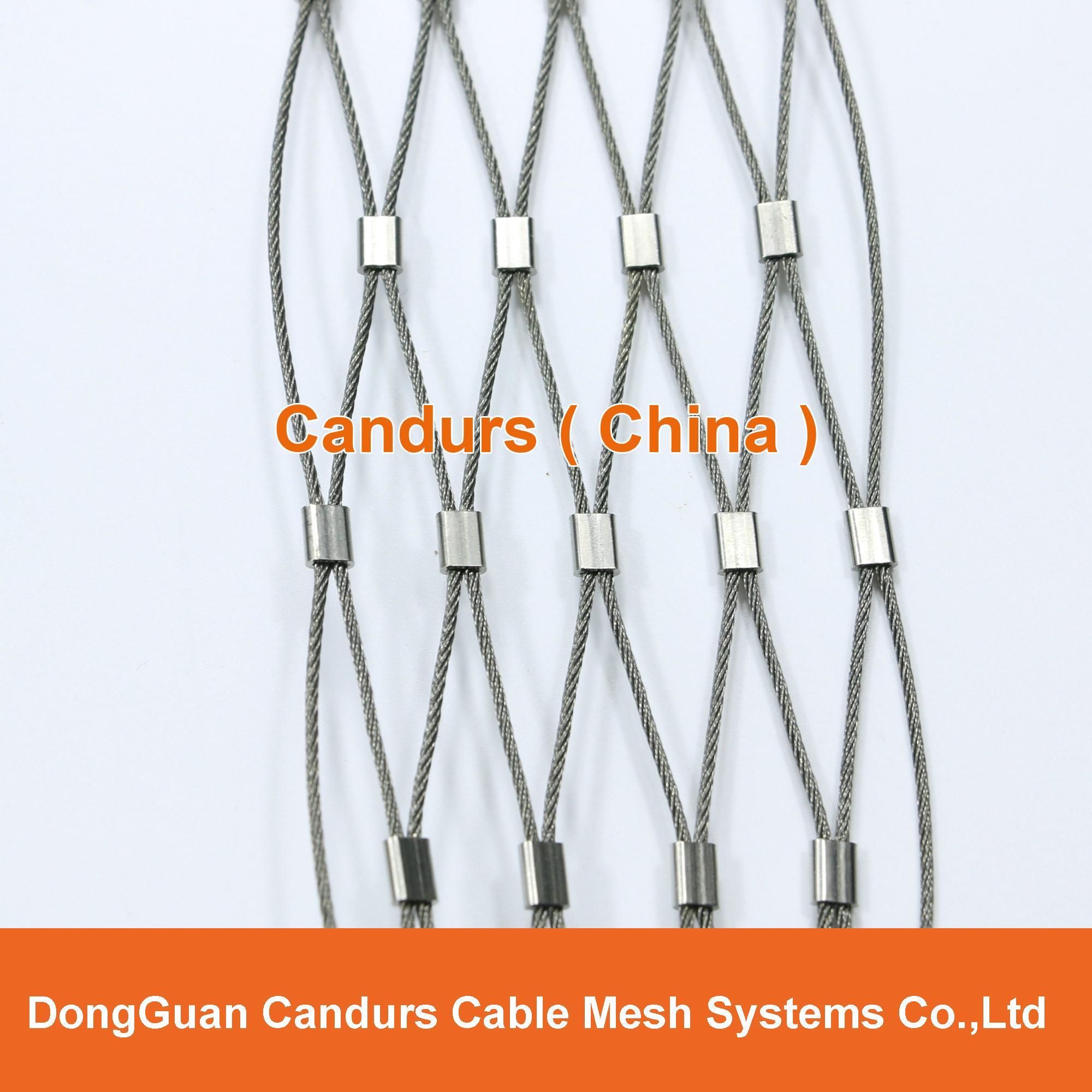 动物园专用不锈钢丝绳套环网   1