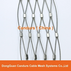 Stainless Steel Wire Rope Animal Ferrule Mesh