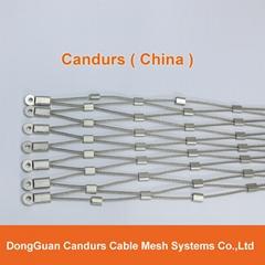 不鏽鋼絲繩網動物扣網