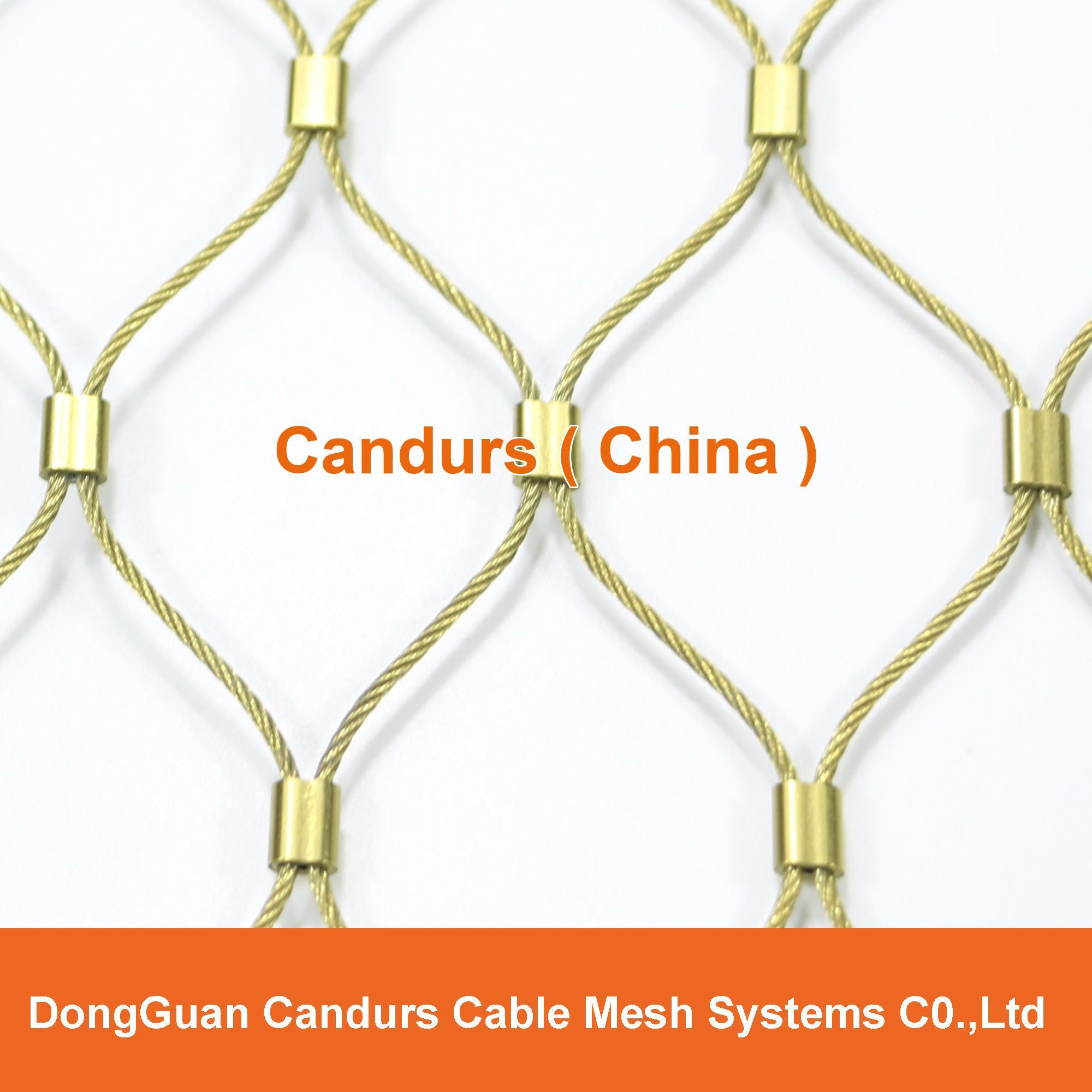 手工不锈钢丝绳装饰网 1