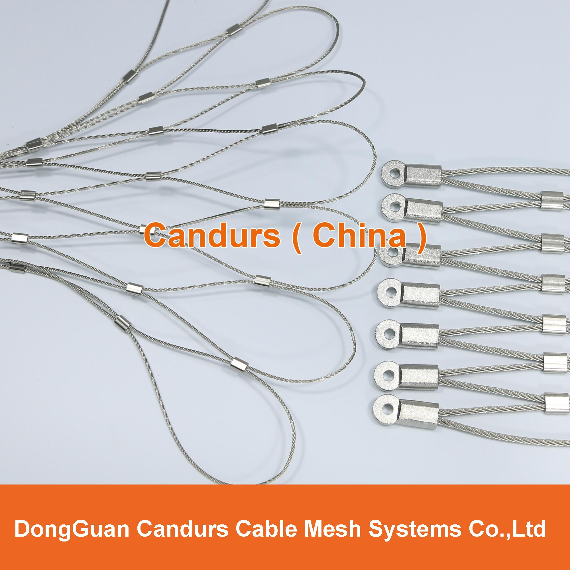 手工不锈钢丝绳装饰网 3