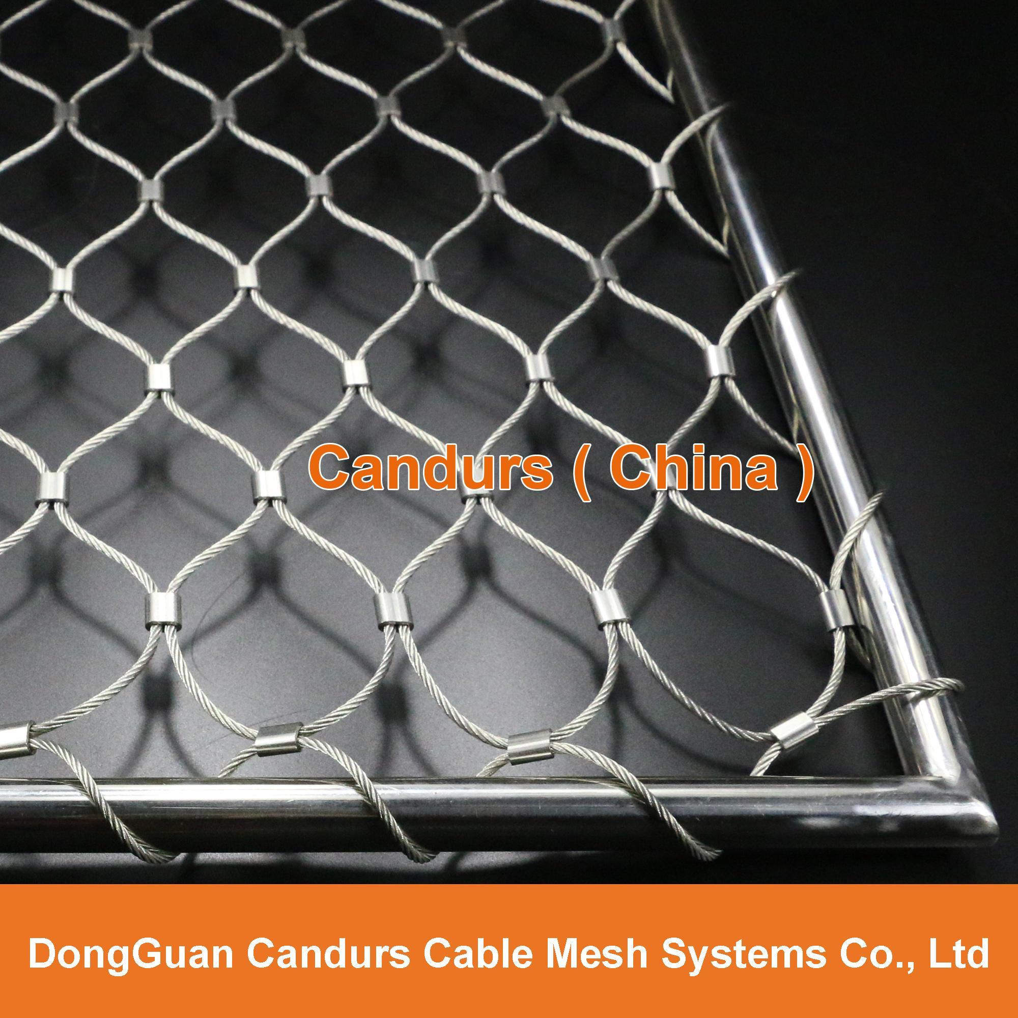 手工不锈钢丝绳装饰网 6