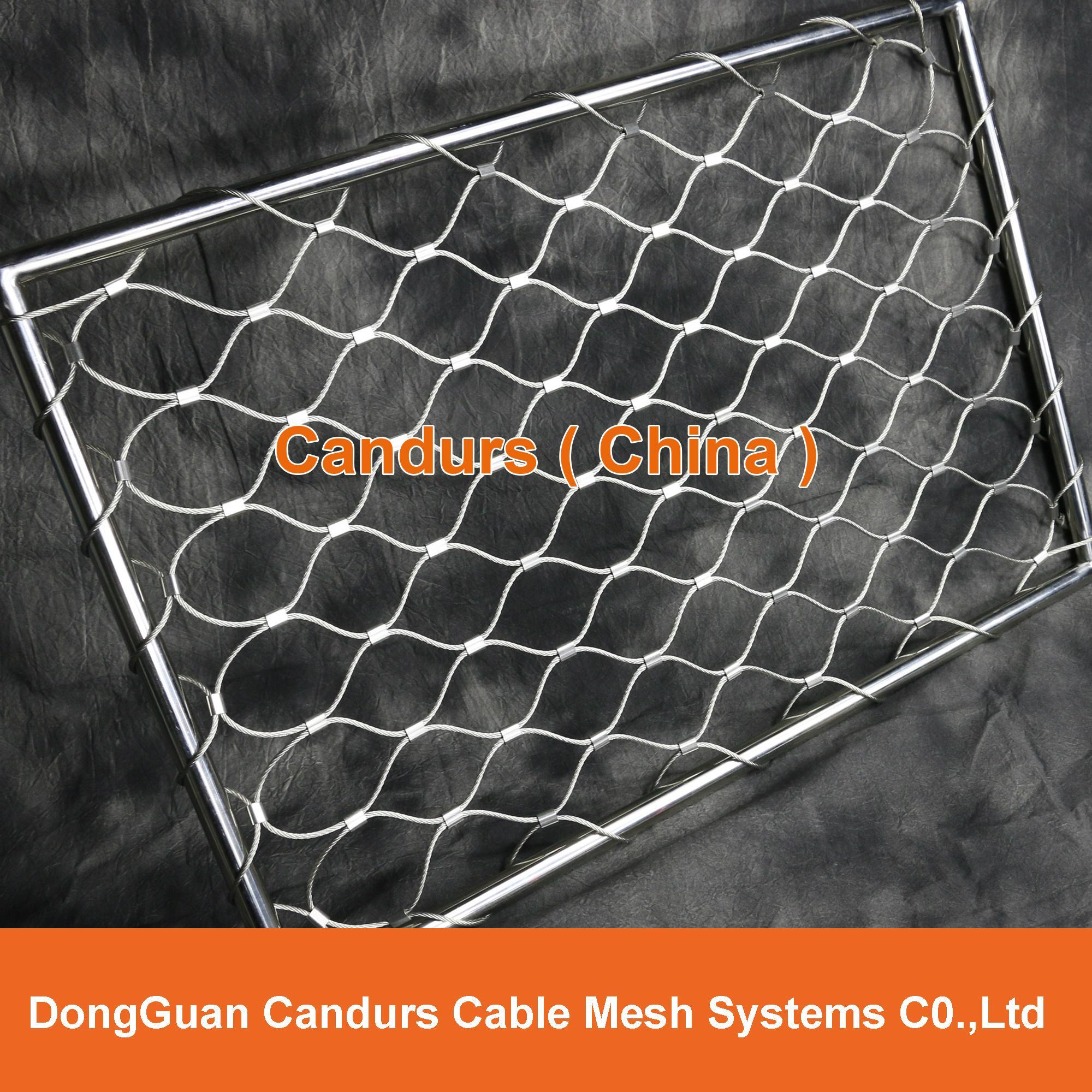 美标316不锈钢丝绳套环网 4