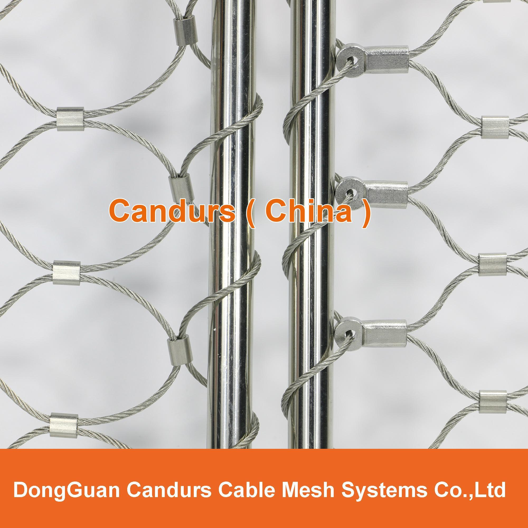 不鏽鋼絲繩安全圍欄網 11
