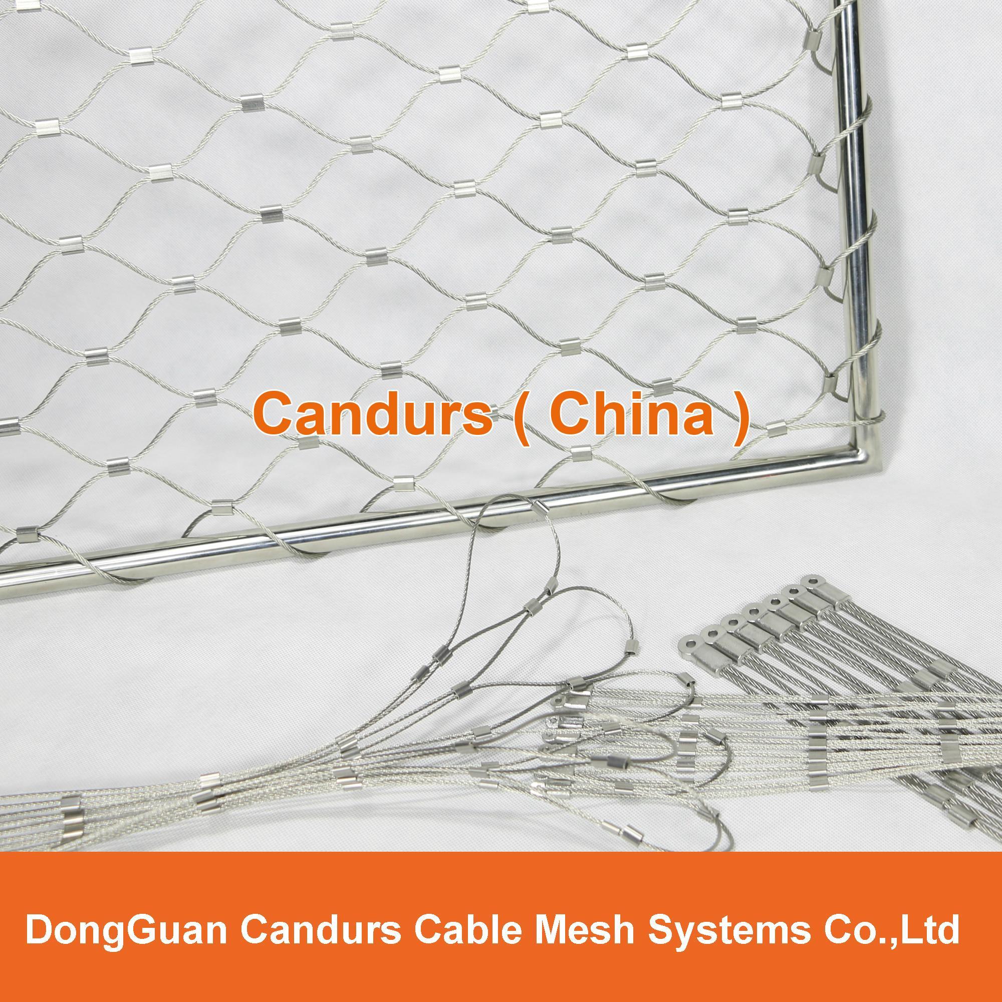 不鏽鋼絲繩安全圍欄網 1
