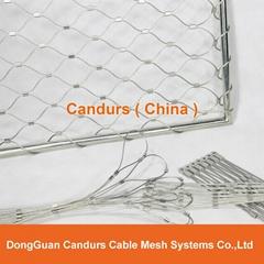 不锈钢丝绳安全围栏网