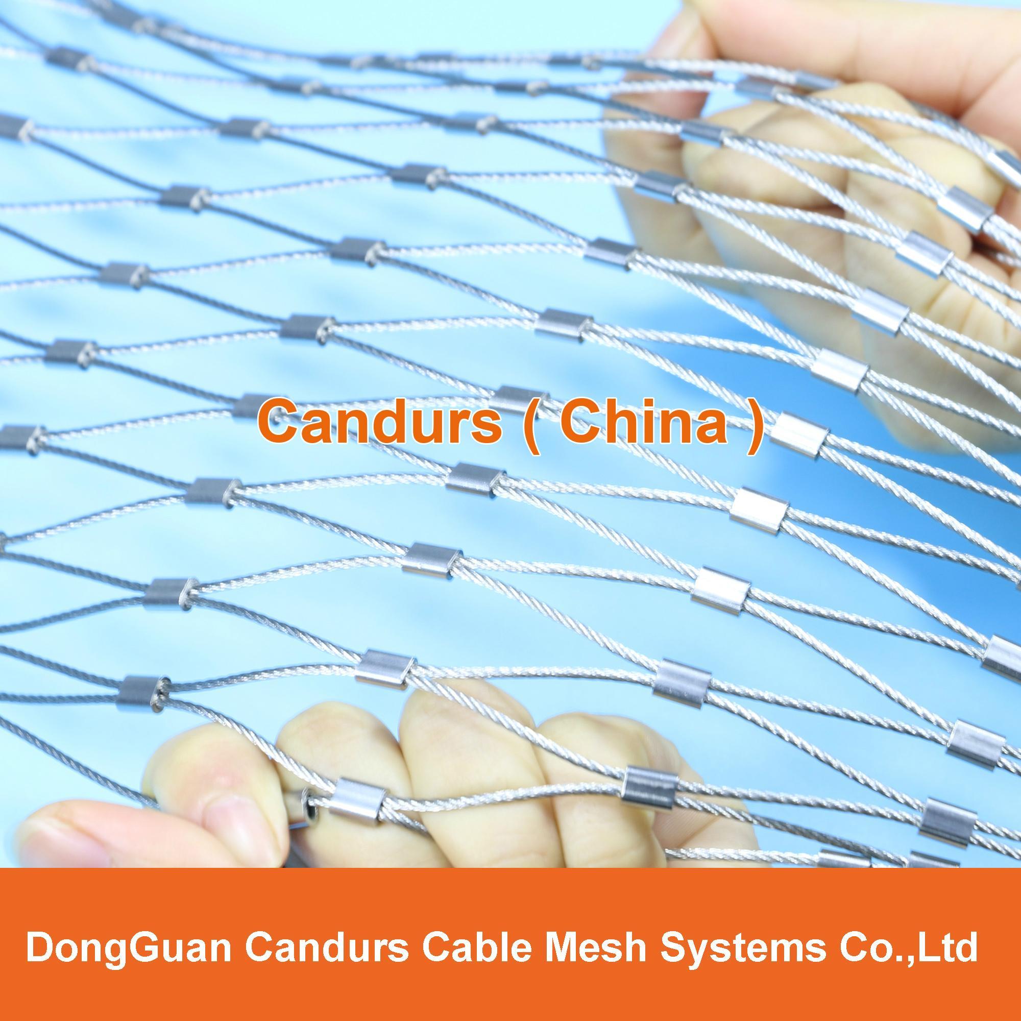 不锈钢丝绳动物园围栏网 9