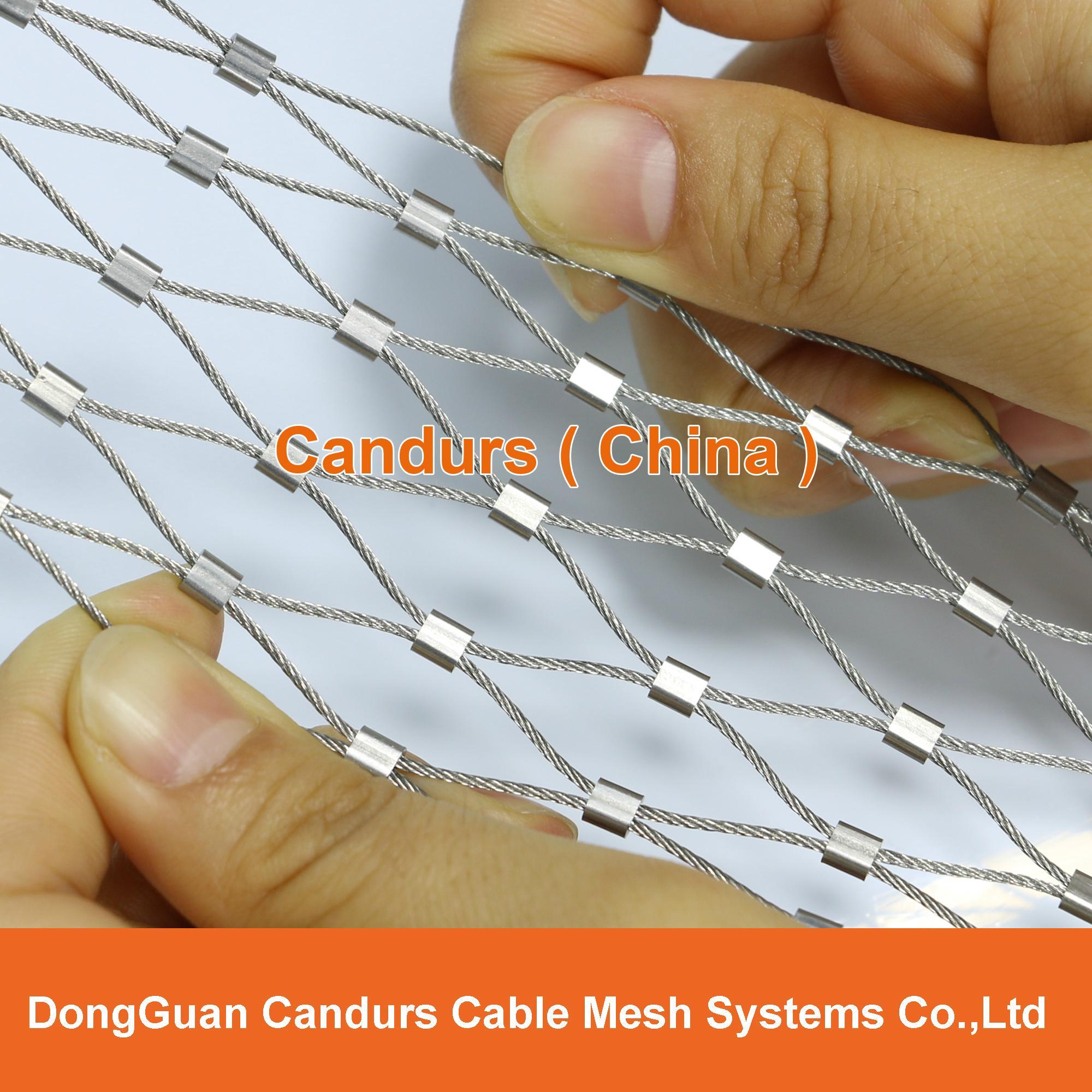不锈钢丝绳动物园围栏网 3