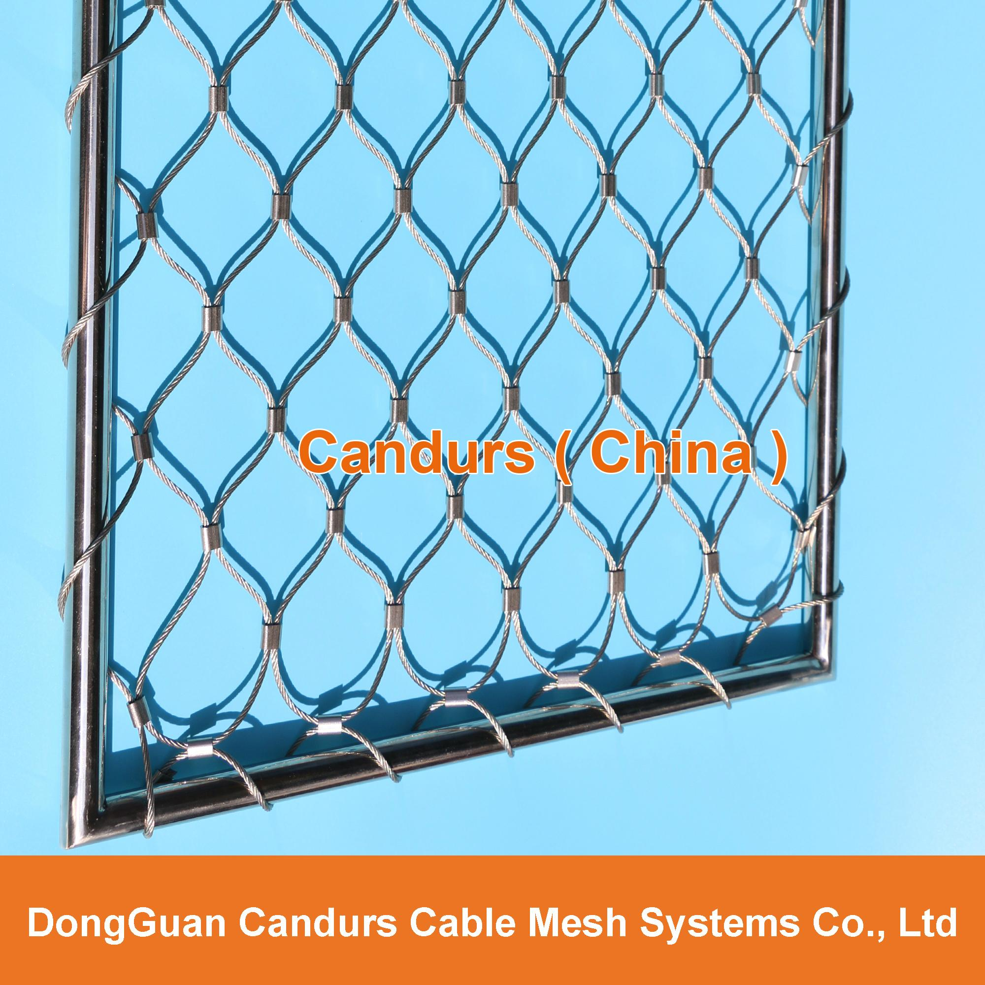专业小孔径钢丝绳网 1