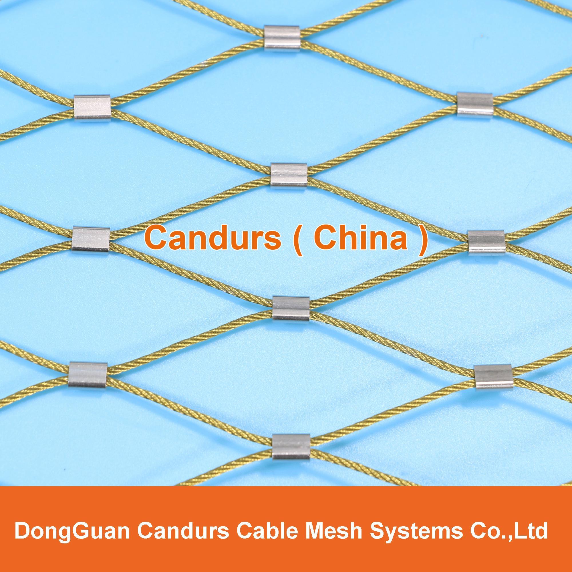 不锈钢丝绳体育围栏网 1