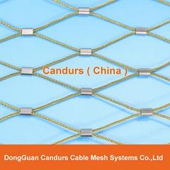 不鏽鋼絲繩體育圍欄網