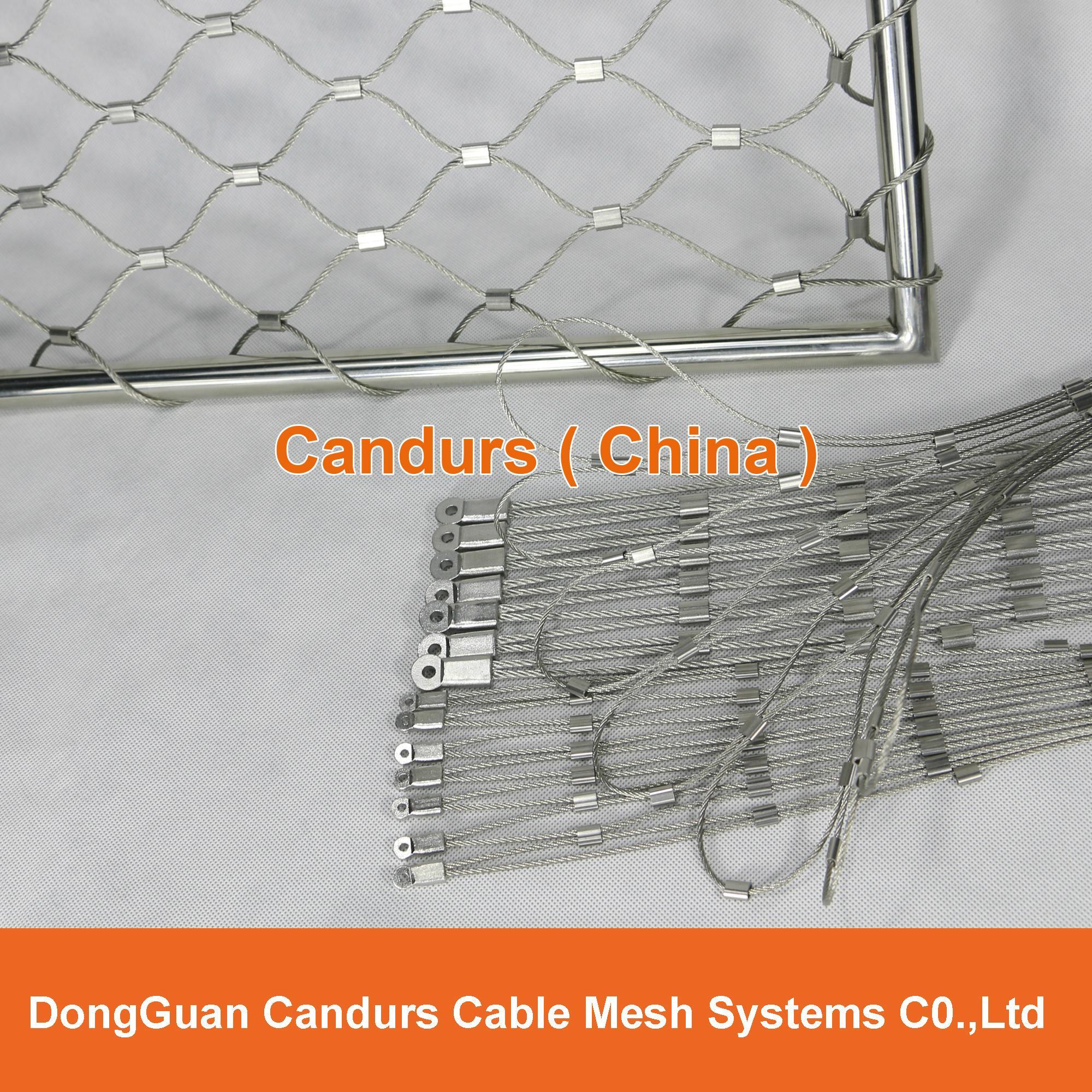 不锈钢丝绳体育围栏网 10