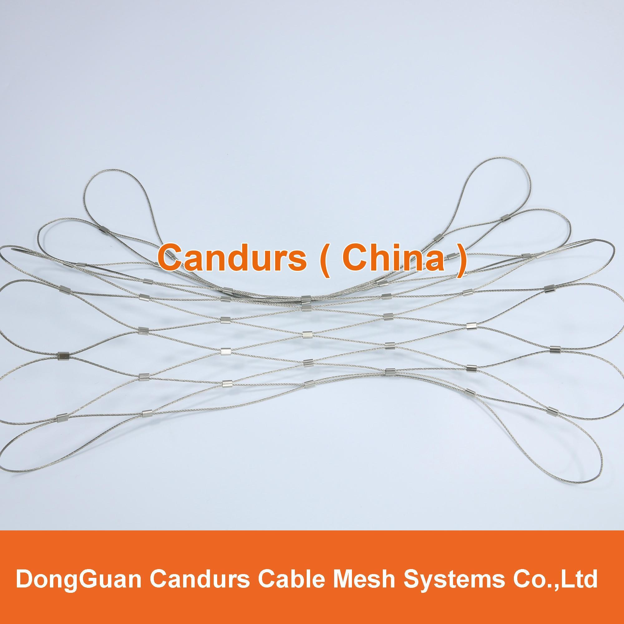 供應不鏽鋼壓扣鋼絲繩網 7