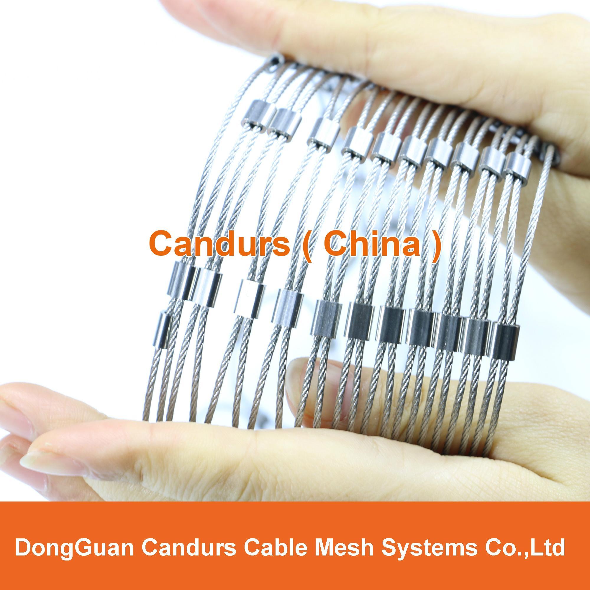 供應不鏽鋼壓扣鋼絲繩網 9