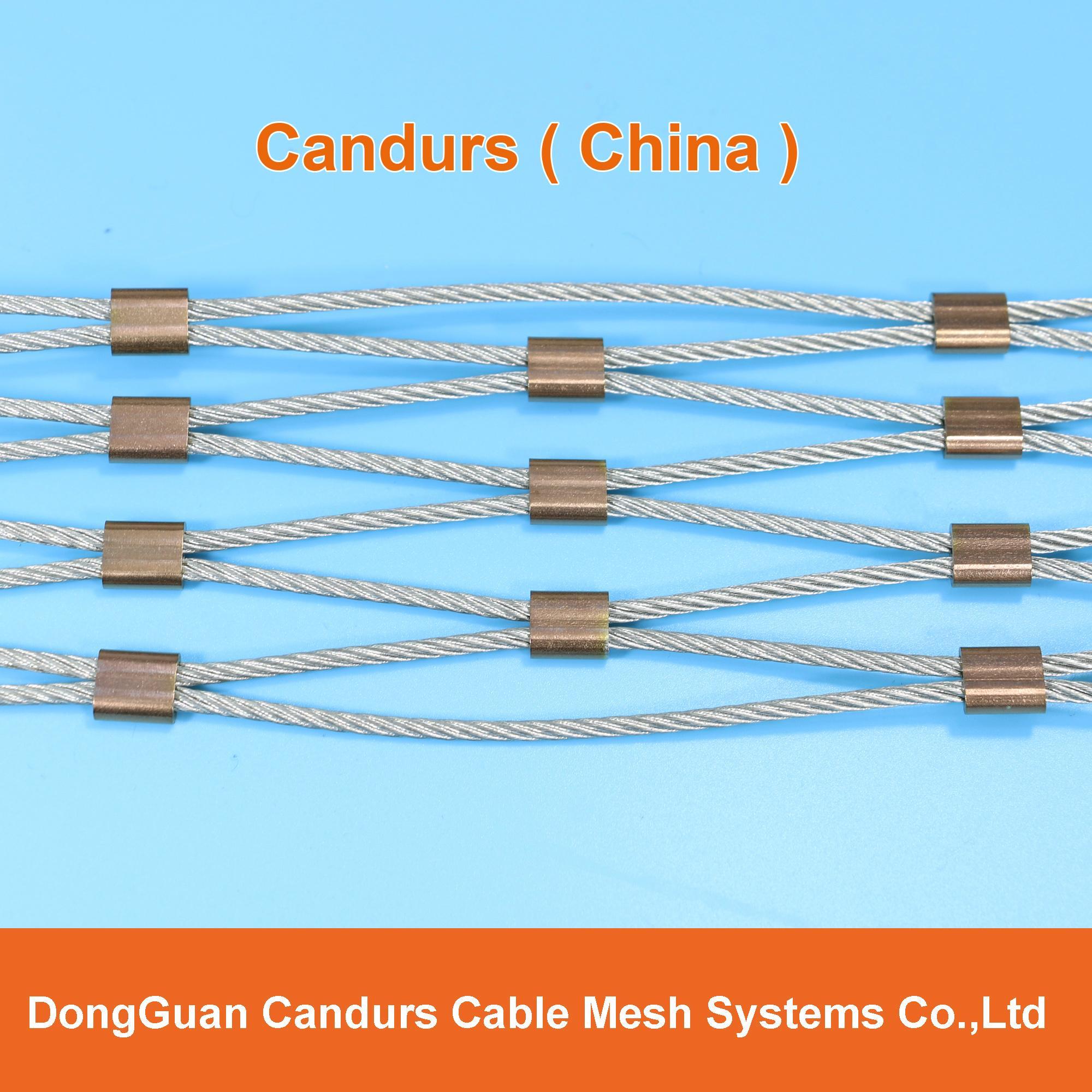 供應不鏽鋼壓扣鋼絲繩網 13