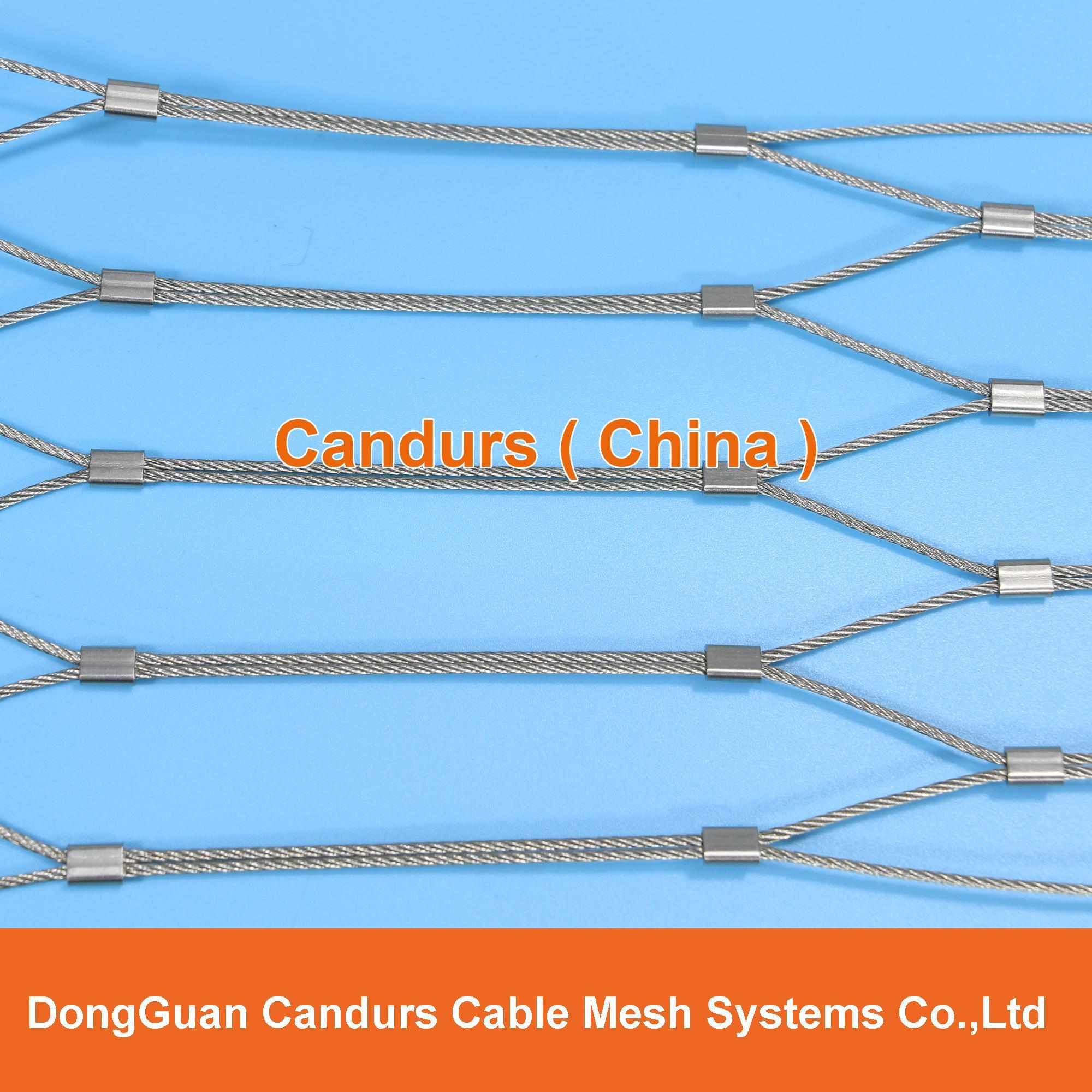供應不鏽鋼壓扣鋼絲繩網 1