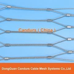 供應不鏽鋼壓扣鋼絲繩網