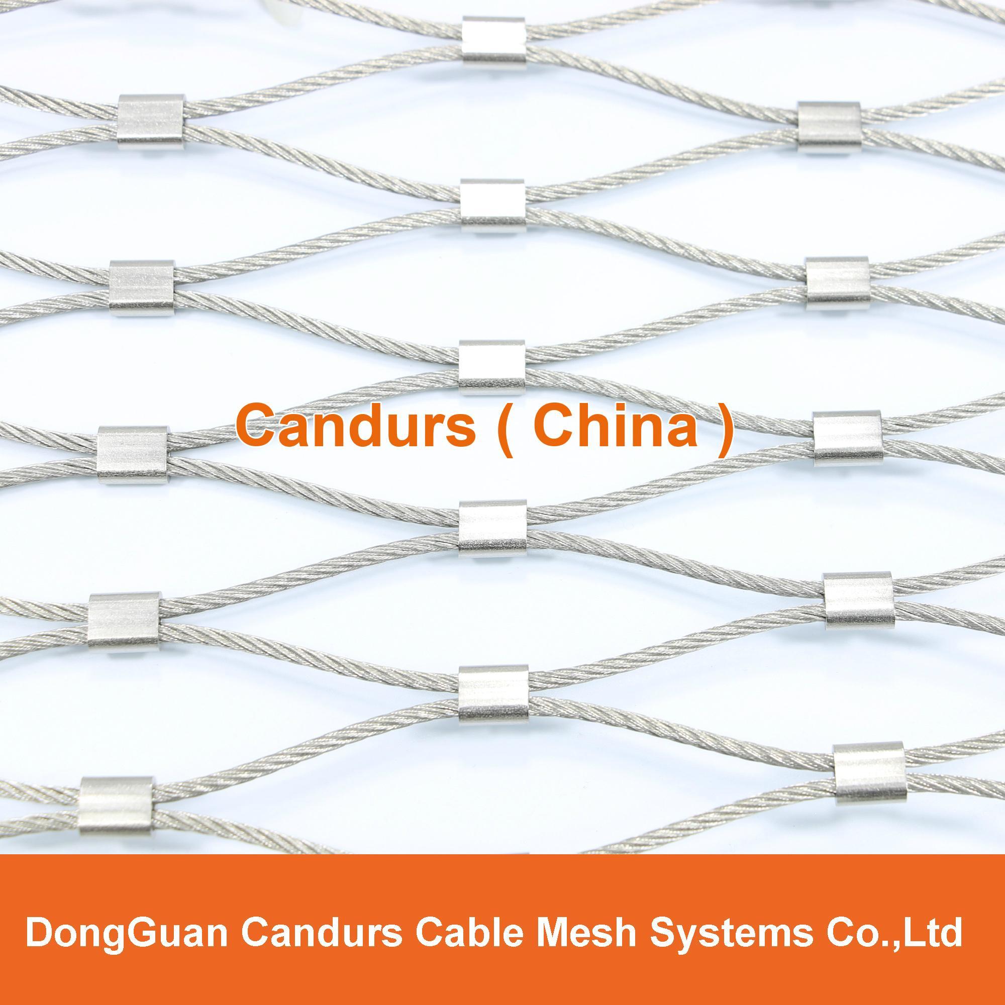 供應不鏽鋼壓扣鋼絲繩網 14