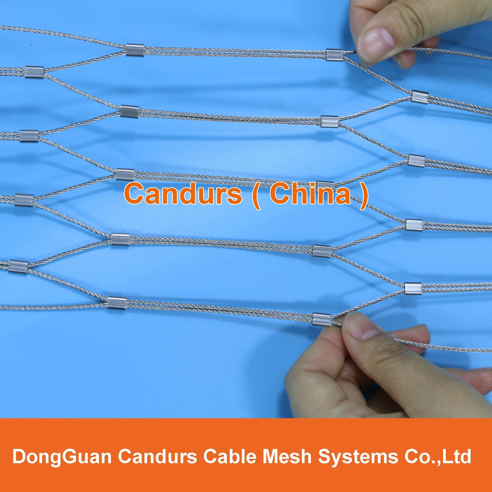 供應不鏽鋼壓扣鋼絲繩網 17