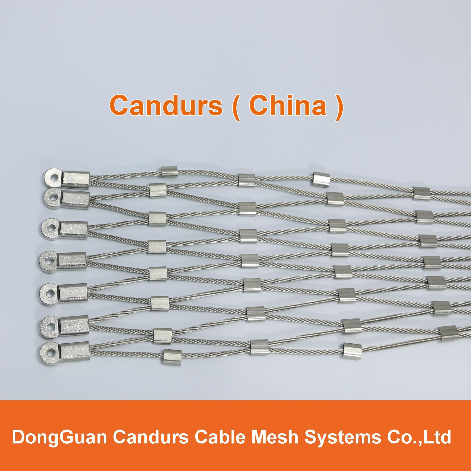 供應不鏽鋼壓扣鋼絲繩網 16