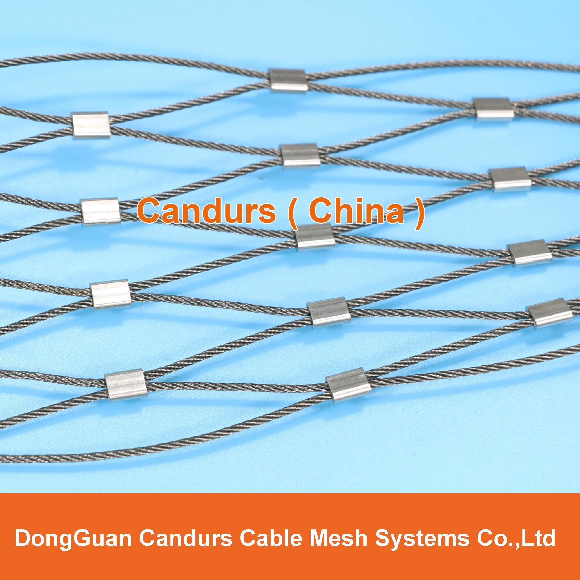 供應不鏽鋼壓扣鋼絲繩網 18